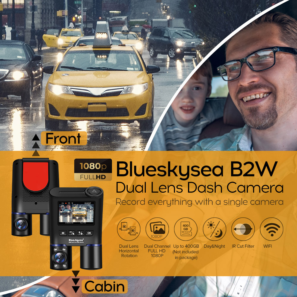 Blueskysea Ride Sharing Uber Lyft Didi Dashcam